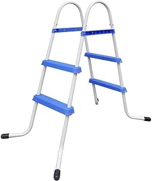 Tidyard Steel Frame Pool Ladder Non-Slip Steps 34.0
