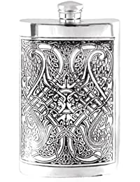 PickUp 8oz Celtic Knot Hip Flask with Free Engraving deal