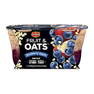 Del Monte Fruit & Oats Snacks, Blueberry Apple, 7-Ounce Cups, 6-Pack of 2-Count Boxes (12 Cups Total)