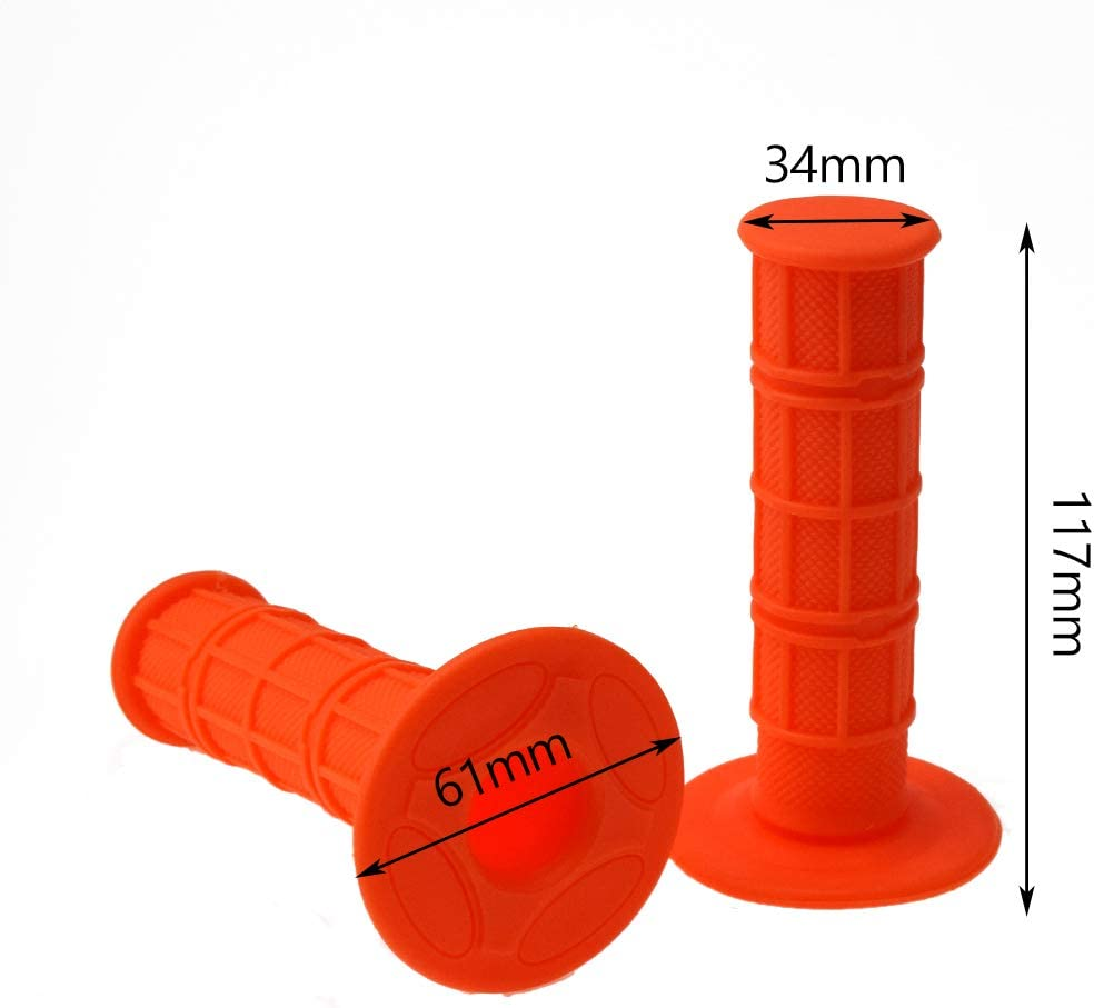 HIAORS 7//8 Inches Universal Motorcycle Grips Hand Grips for CRF YZF WRF KXF KLX KTM RMZ Pit Dirt Bike Motocross Motorcycle Enduro MX Offroad Orange