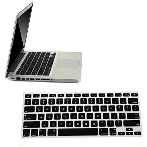 Price comparison product image Silicone Keyboard Skin Cover for Apple Macbook Pro Air Mac Retina 13.3 (Black)