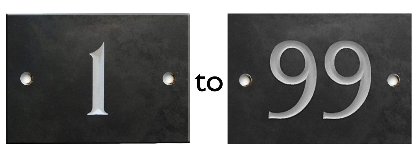 Engraved Slate House Number Plaque