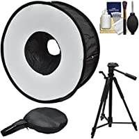 Precision Design PD-SBR Ring Soft Box Hot Shoe Flash Diffuser with 58 Tripod + Cleaning Kit