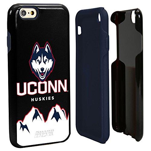 Ncaa Connecticut Uconn Huskies - Guard Dog NCAA Connecticut Huskies Hybrid iPhone 6 Case, Black, One Size