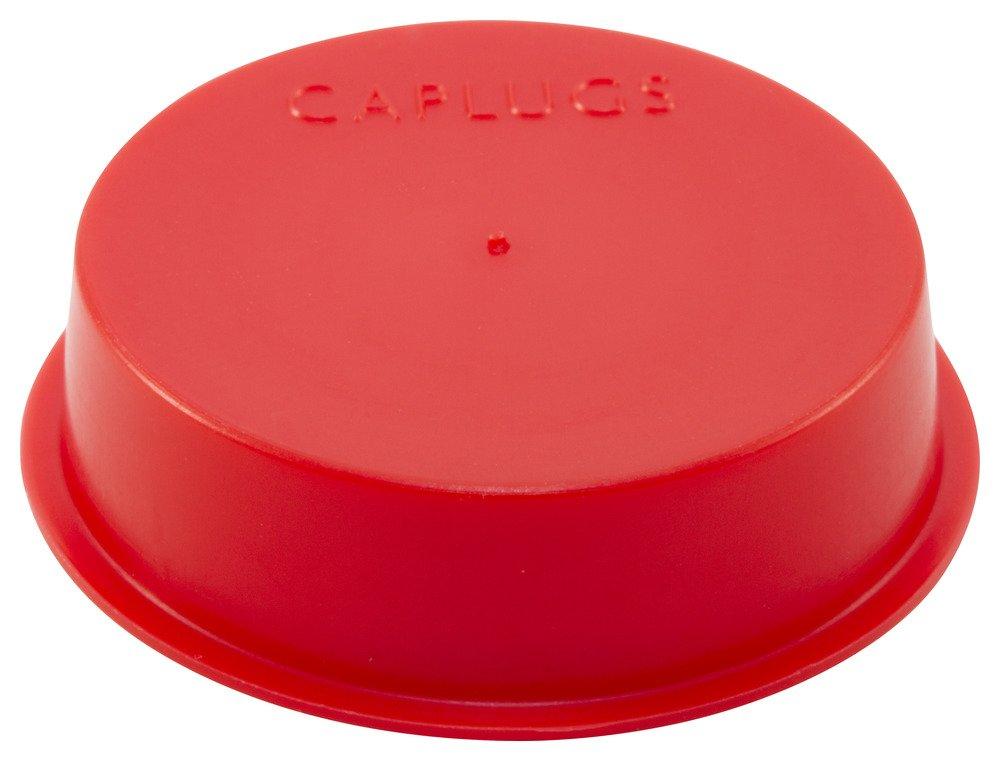 Caplugs Plastic Tapered Cap and Plug. T-17S, PE-LD, Cap OD 1.451'' Plug ID 1.6'', Red (Pack of 500)