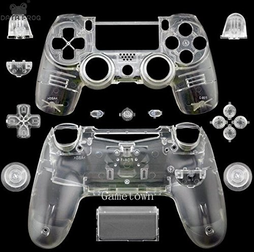 - New Replacement Full Housing Shell Cover Case Protective Hard Skin Kits for Sony Playstation 4 PS4 Dualshock 4 Wireless controller-Matte Clear White