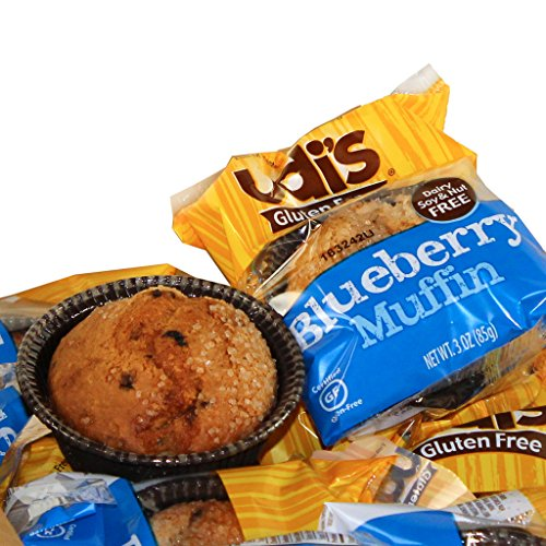 - UDI's Gluten Free Individually Wrapped Blueberry Muffin, 3 oz., (36 per case)
