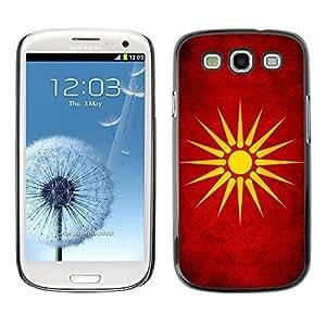 Shell-Star ( National Flag Series-Macedonia ) Snap On Hard Protective Case For Samsung Galaxy S3 III / i9300 i717