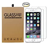 (2 Pack) iPhone 7 Screen Protector, 0.26mm Thickness Crystal Clear Tempered Glass Screen Protector Film (also fit for Apple iPhone 6 4.7 inches)(not for iphone7 plus 5.5 inch)