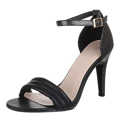 Ital-Design Damen Schuhe EL15200 Pumps High Heels Sandaletten