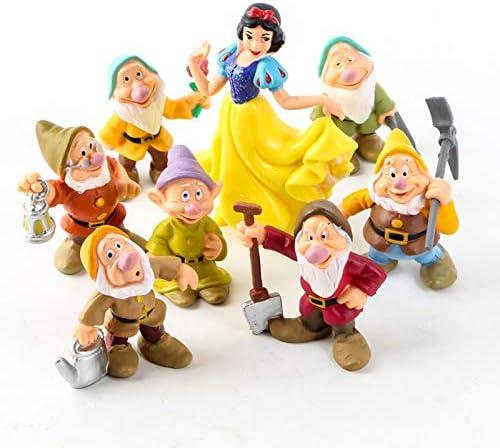 Snow White Princess and The Seven Dwarfs Figures Cake Kids Gifts 8pcs/Set