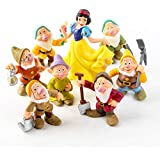 Snow White Princess and The Seven Dwarfs Figures Cake Kids Gifts 8pcs/Set