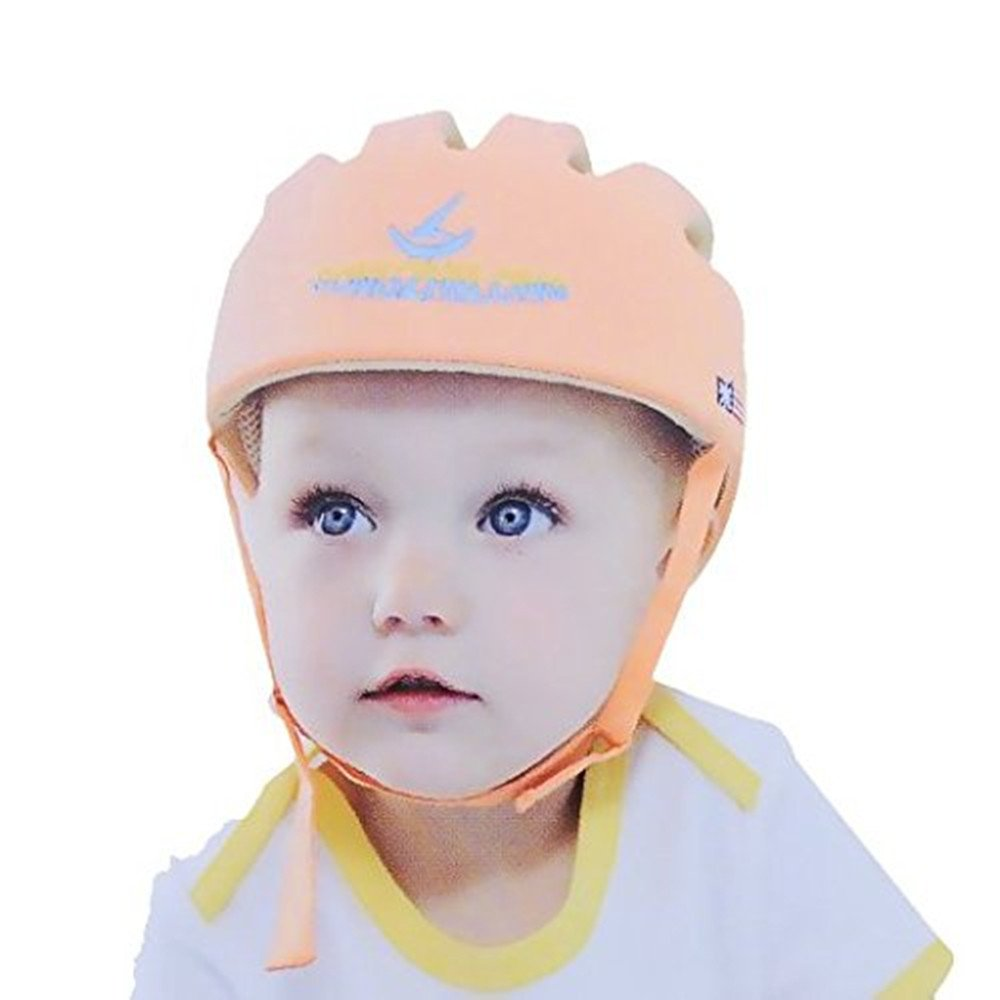 Songzhilong HI9 Infant Protective Hat Baby Toddler Safety Adjustable Helmet Cap Protection Head for Walking Harnesses (Orange) SZL