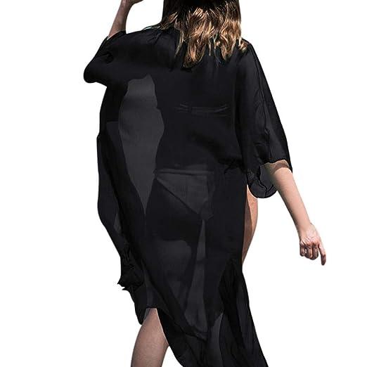 Toimoth Women Chiffon 34 Sleeves Shawl Kimono Cardigan Cover Up