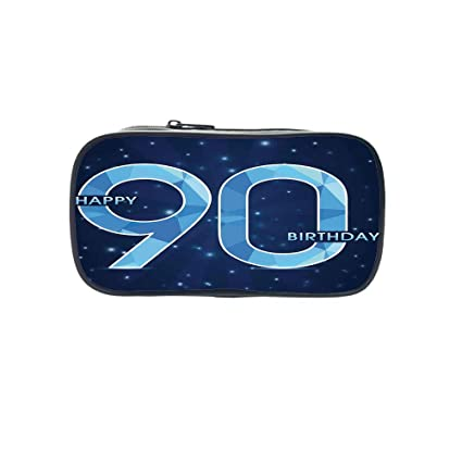Diversified Style Pen Bag90th Birthday DecorationsBirthday Cake With Cherries Burning Candles Number