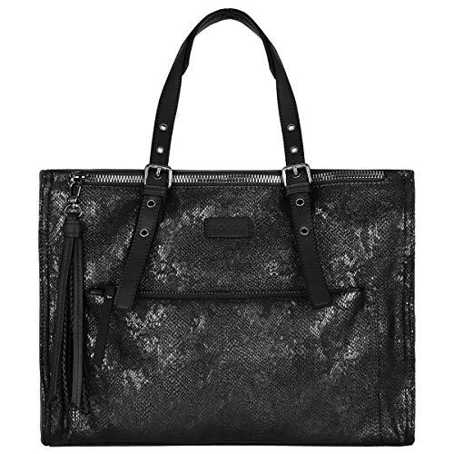 Tracolla Borsa Zip Molti Scomparti Capacità Spalla Shopping Pelle Elegante Nero Moda Lavoro Tasche Serpente Shopper A Bag Tote Mano Grande Crazychic Donna Pu Grigio fdFZqSfxw