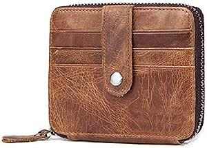 Genuine Leather Wallet for Men RFID Blocking Wallet Cowhide Leather Credit Carder Holder Vintage Purse