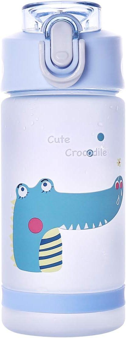Botella de agua Diller con pajita para niños, de 500 ml, sin BPA, K8849