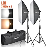 Emart Photography Softbox Lighting Kit, Photo Equipment Studio Softbox 20 x 27, 45W Dimmable LED with Double Color Temperature for Portrait Video and Shooting