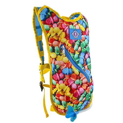 Dan-Pak Hydration Pack 2l - Candy Land- Perfect for raves, festivals, hiking, camping, biking, and more!