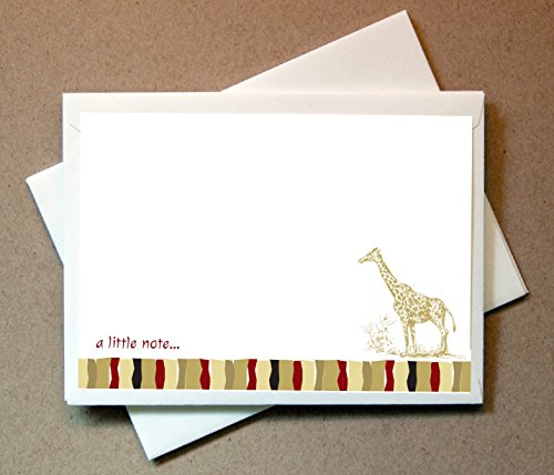 Safari Note Cards (24 Non-foldover Cards and Envelopes) by Little Notes by Comptime