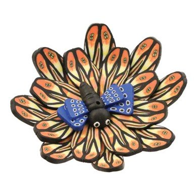 WILDBERRY Fimo Round Butterfly Incense Holder