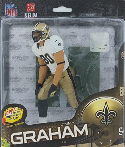 McFarlane Toys NFL Series 34 Jimmy Graham Figure - Rare White & Gold Uniform