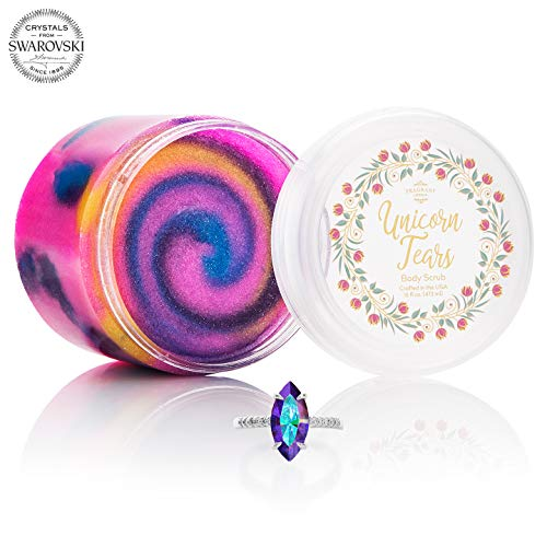 Fragrant Jewels Unicorn Tears Body Scrub with Collectible Ring (Size 5-10)