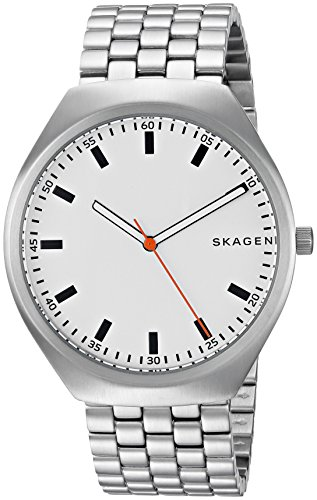 Skagen Men's Grenen Analog-Quartz Watch with Stainless-Steel Strap, Silver, 20 (Model: SKW6388)