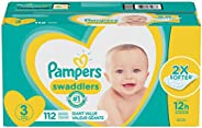 Pampers Pañales Swaddlers Pañales Desechables para bebé, Paquete Gigante