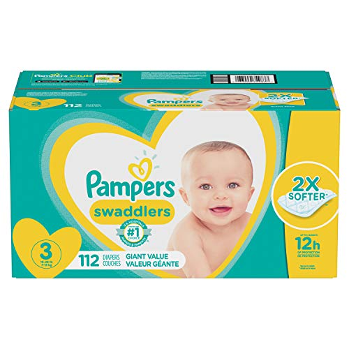 Diapers Size 3, 112 Count - Pampers Swaddlers Disposable Baby Diapers, Giant Pack from Pampers