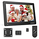 Andoer 15.6 Inch Digital Photo Frame FHD 1920 * 1080 IPS Screen Support Calendar/Clock/MP3/Photos/1080P Video Player with 75 * 75mm Standard VESA Wall Mounting Bracket & 8GB Memory Card