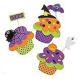 12 Foam Halloween Spooky Cupcake Magnet Craft Kit