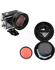 Xinvision 58mm Close-Up 16X Magnification for SJCAM SJ6 Legend Action Camera, HD Close-Up Macro Filter Lens 16X Magnification + Red Filter Camera Accessories