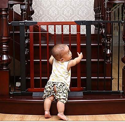DEWUFAFA Reja de Seguridad, Puerta de Aislamiento - Escalera Valla for Mascotas Valla 74x55cm Blanco: Amazon.es: Hogar