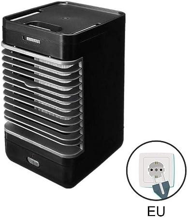 Etopfashion Aire Acondicionado portátil pequeño acondicionador de Aire Ventilador de enfriamiento Enfriador silencioso de Escritorio con asa para Oficina Hogar, Gimnasio al Aire Libre, Negro: Amazon.es: Hogar