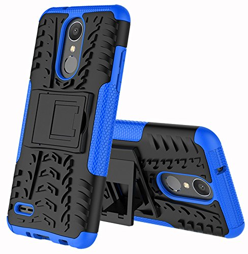 LG Zone 4 Case,LG Aristo 2/3, LG Phoenix 4, LG Tribute Empire/Dynasty SP200,LG Fortune 2,LG Risio 3,LG K8 (2018) Case,Yiakeng Wallet Hard Protective Flip Phone Cases with A Kickstand (Blue) (Verizon Lg Phone Cases For Girls)