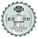 CMT K02410 ITK Contractor Ripping Saw Blade, 10 x 24 Teeth, 10° ATB with 5/8-Inch bore