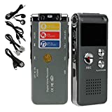 soled 8GB Digital Voice Recorder MP3 Player Digital Audio Voice Recorder / Rechargeable Dictaphone with Mini USB Port ,Grey