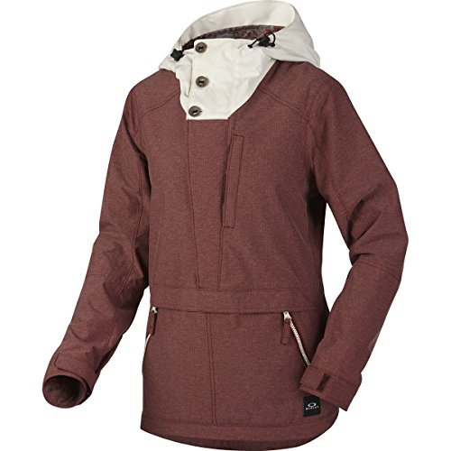 Oakley Women's Thunderbolt Pull Over BZS Jacket, Large, Fired - Jackets Oakley Womens