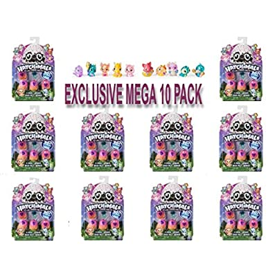 Hatchimals CollEGGtibles Season 4 Kid's Toys (10-Pack) Collectible Playset | Glitter, Metallic, Glow-in-The-Dark- Fuzzy, and Limited Edition Surprises | Girls and Boys: Toys & Games