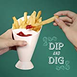 French Fry Chips Cone Salad Dipping Cup Kitchen Restaurant Potato Tool Tableware Assorted Sauce Ketchup Jam Dip Cup Bowl
