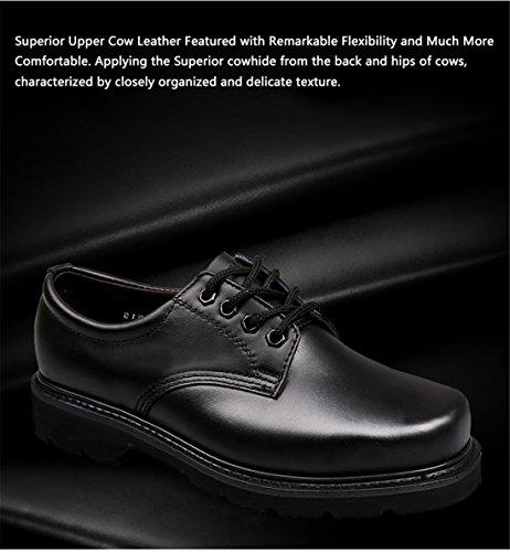 qiangren travail en cuir véritable Chaussures Lacets Chaussures de Business Casual hommes Basses