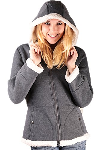 Woodland Supply Co. Women's Sherpa Lined Hooded Fleece Zip (Co Sherpa Fleece)