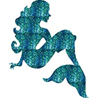"Mermaid Decal Sticker Premium Vinyl Laptop car Window 4"" Tall"