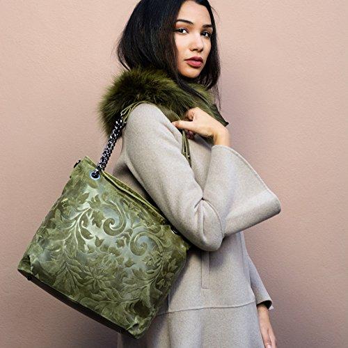Shirin Sehan, Borsa a spalla donna Verde Verde chiaro