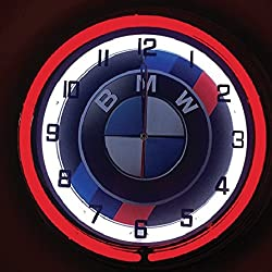 BMW Logo 19 Double Neon Clock