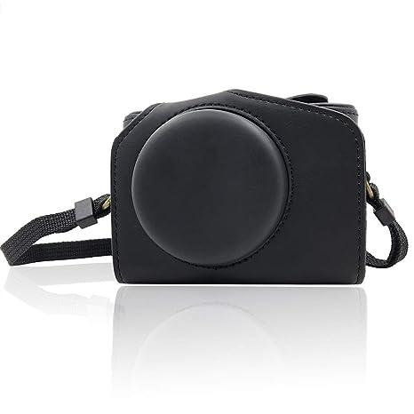 Amazon.com: Yisau - Funda de piel para cámara de fotos ...