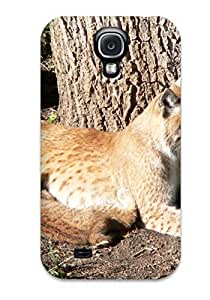Durable Defender Case For Galaxy S4 Tpu Cover(lynx Pictures )