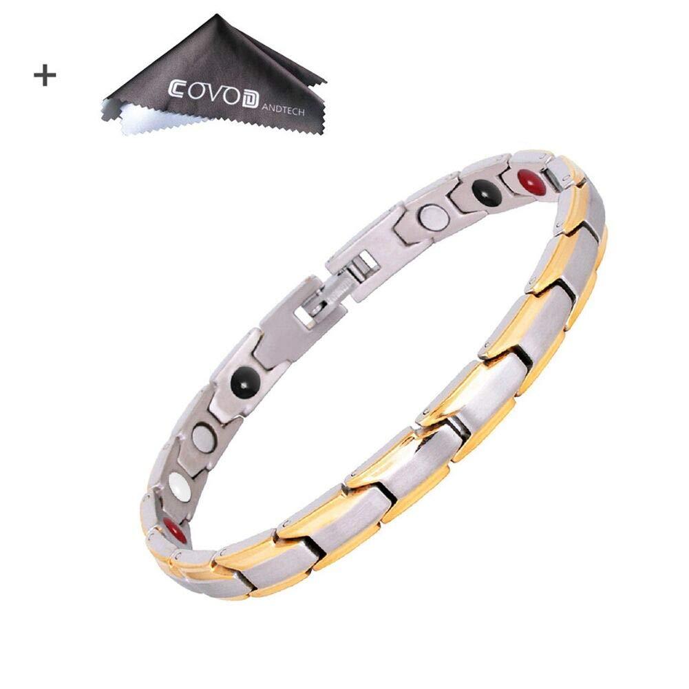 Titanium Magnetic Therapy Health Bracelet - 2018 New Pure Row 4 Elements Magnetic Therapy Bracelets (Women #2)